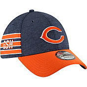 New Era Men's Chicago Bears Sideline Home 39Thirty Navy Stretch Fit Hat