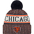 New Era Men's Chicago Bears Sideline Cold Weather Navy Sport Knit