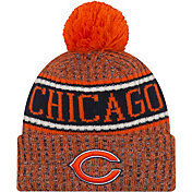New Era Men's Chicago Bears Sideline Cold Weather Reverse Orange Sport Knit