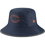 New Era Men's Chicago Bears Sideline Training Camp Navy Bucket Hat