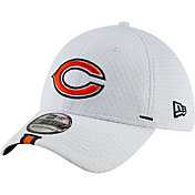 New Era Men's Chicago Bears Sideline Training Camp 39Thirty Stretch Fit White Hat