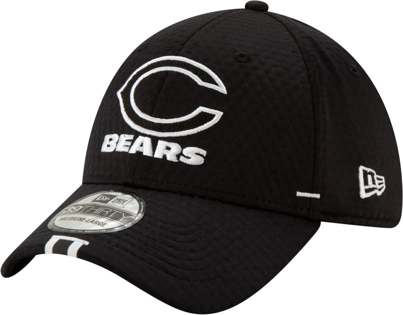 New Era Men's Chicago Bears Sideline Training Camp 39Thirty Stretch Fit Black Hat
