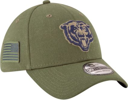 New Era Men s Salute to Service Chicago Bears 39Thirty Olive Stretch ... a26cce99a043