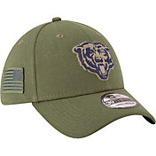 New Era Men's Salute to Service Chicago Bears 39Thirty Olive Stretch Fit Hat