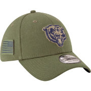 New Era Men s Salute to Service Chicago Bears 39Thirty Olive Stretch Fit Hat 944ed691df7