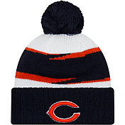New Era Men's Chicago Bears Thanksgiving Navy Pom Knit