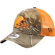 New Era Men's Cleveland Browns Real Tree 9Forty Orange Camo Adjustable Trucker Hat
