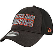 New Era Men's Cleveland Browns Shaded Front 9Forty Black Adjustable Hat