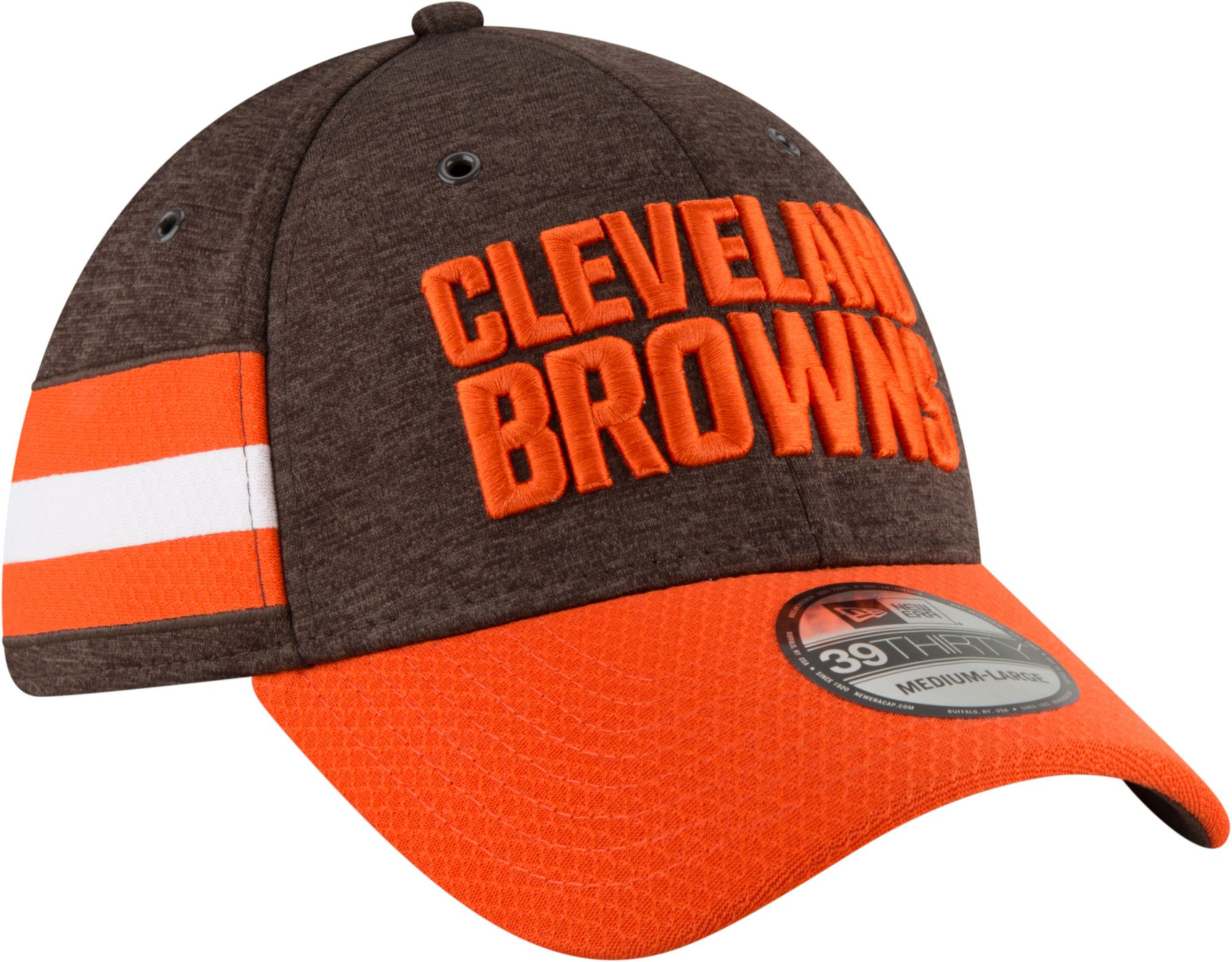 ireland new era mens cleveland browns sideline home 39thirty brown stretch  fit hat 2b5a7 fcac6 6aa383c02