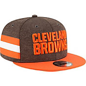 New Era Men's Cleveland Browns Sideline Home 9Fifty Brown Adjustable Hat