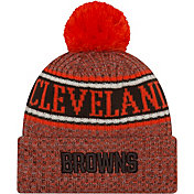 New Era Men's Cleveland Browns Sideline Cold Weather Reverse Orange Sport Knit