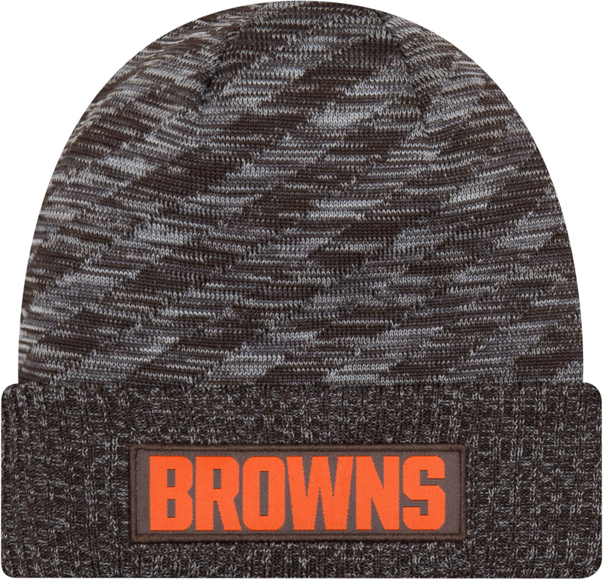 sports shoes f613b 05816 ... switzerland new era mens cleveland browns sideline cold weather td brown  knit 32311 2f1f6