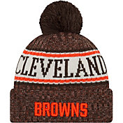 New Era Men's Cleveland Browns Sideline Cold Weather Brown Sport Knit