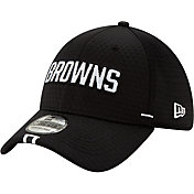New Era Men's Cleveland Browns Sideline Training Camp 39Thirty Stretch Fit Black Hat