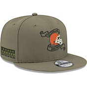 New Era Men's Cleveland Browns Crafted in the USA Adjustable Olive Hat