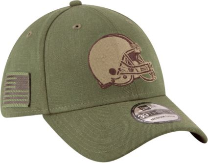 New Era Men s Salute to Service Cleveland Browns 39Thirty Olive Stretch Fit  Hat. noImageFound 68f0ba90a
