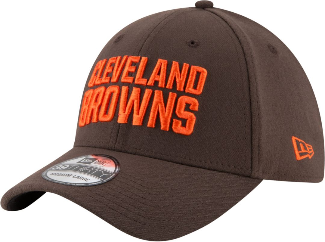 2c0c926195796 New Era Men s Cleveland Browns Team Classic 39Thirty Brown Stretch Fit Hat 1