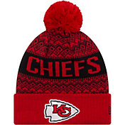 New Era Men's Kansas City Chiefs Wintry Red Pom Knit