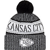 New Era Men's Kansas City Chiefs Sideline Cold Weather Reverse Black Sport Knit