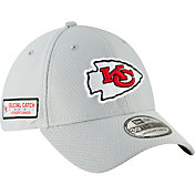 New Era Men's Crucial Catch Kansas City Chiefs Sideline 39Thirty White Stretch Fit Hat