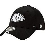 New Era Men's Kansas City Chiefs Sideline Training Camp 39Thirty Stretch Fit Black Hat