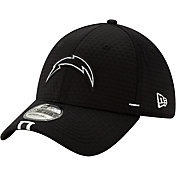 New Era Men's Los Angeles Chargers Sideline Training Camp 39Thirty Stretch Fit Black Hat