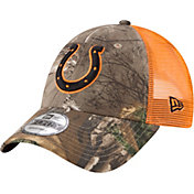 New Era Men's Indianapolis Colts Real Tree 9Forty Orange Camo Adjustable Trucker Hat