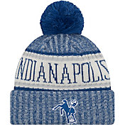 New Era Men's Indianapolis Colts Sideline Cold Weather Blue Sport Knit