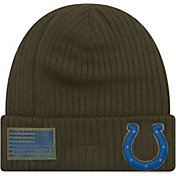 New Era Men's Salute to Service Indianapolis Colts Olive Cuffed Knit