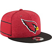 New Era Men's Arizona Cardinals Sideline Home 9Fifty Red Adjustable Hat