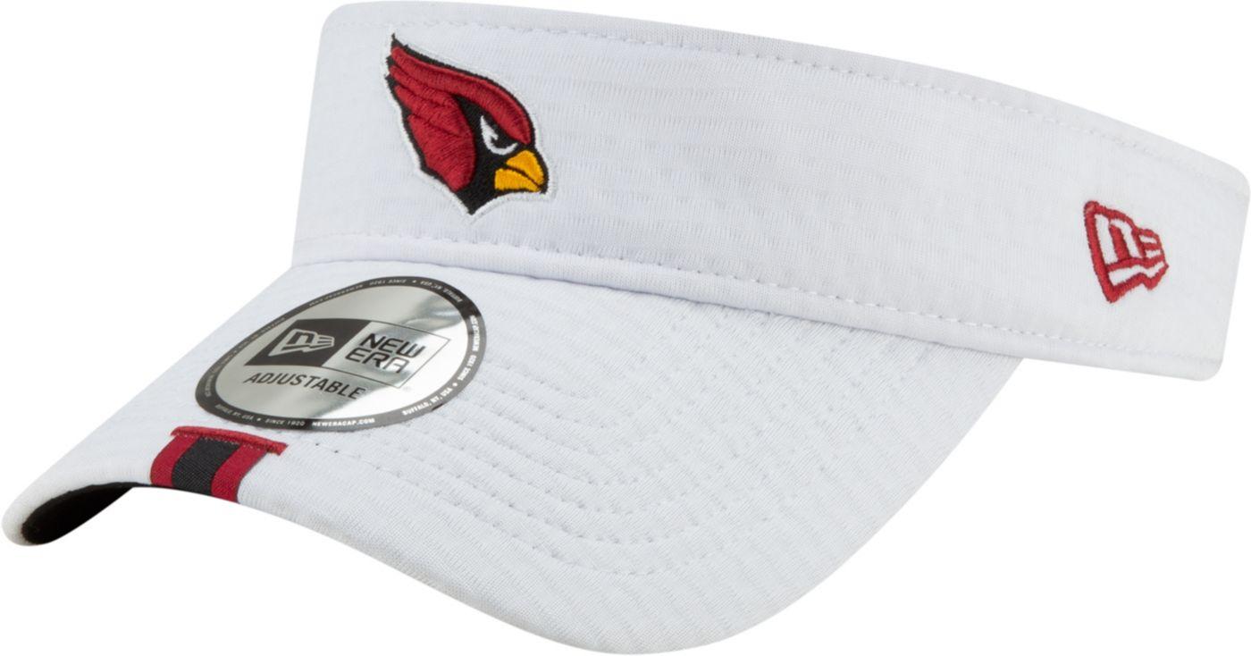 New Era Men's Arizona Cardinals Sideline Training Camp Adjustable White Visor