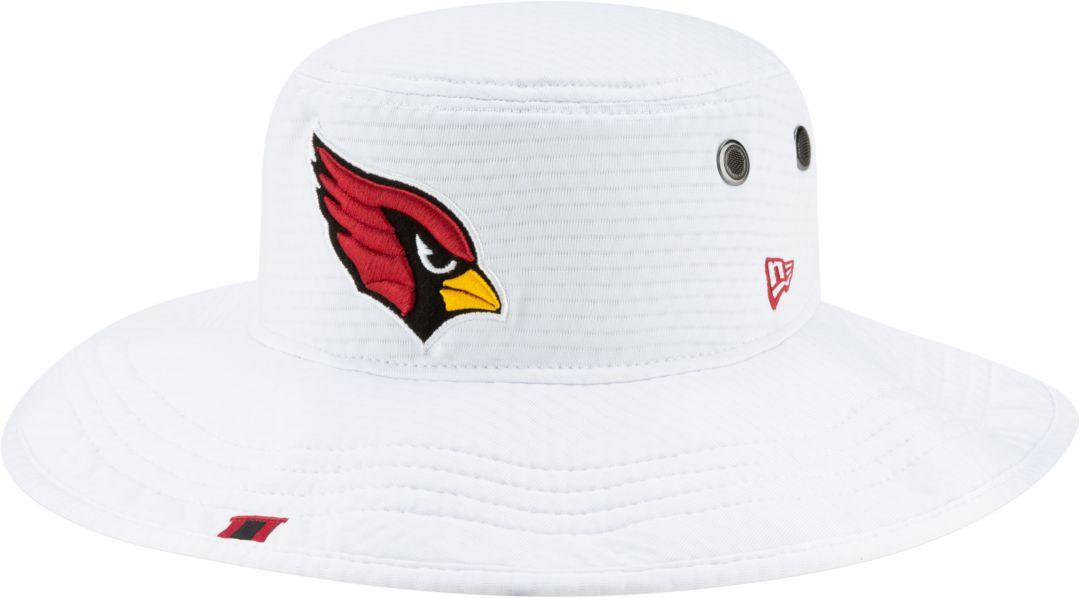 9301996d New Era Men's Arizona Cardinals Sideline Training Camp Panama White Bucket  Hat