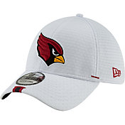 New Era Men's Arizona Cardinals Sideline Training Camp 39Thirty Stretch Fit White Hat