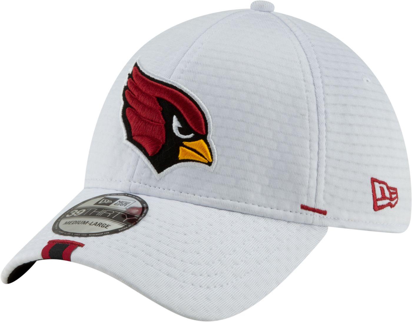 New Era Men's Arizona Cardinals Sideline Training Camp 39Thirty Stretch Fit White Hat