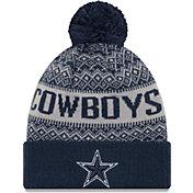 New Era Men's Dallas Cowboys Wintry Navy Pom Knit
