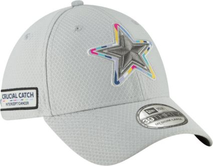 808b005f4f6 New Era Men s Crucial Catch Dallas Cowboys Sideline 39Thirty White Stretch  Fit Hat. noImageFound