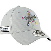 New Era Men's Crucial Catch Dallas Cowboys Sideline 39Thirty White Stretch Fit Hat