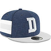 New Era Men's Dallas Cowboys Sideline Home 9Fifty Navy Adjustable Hat