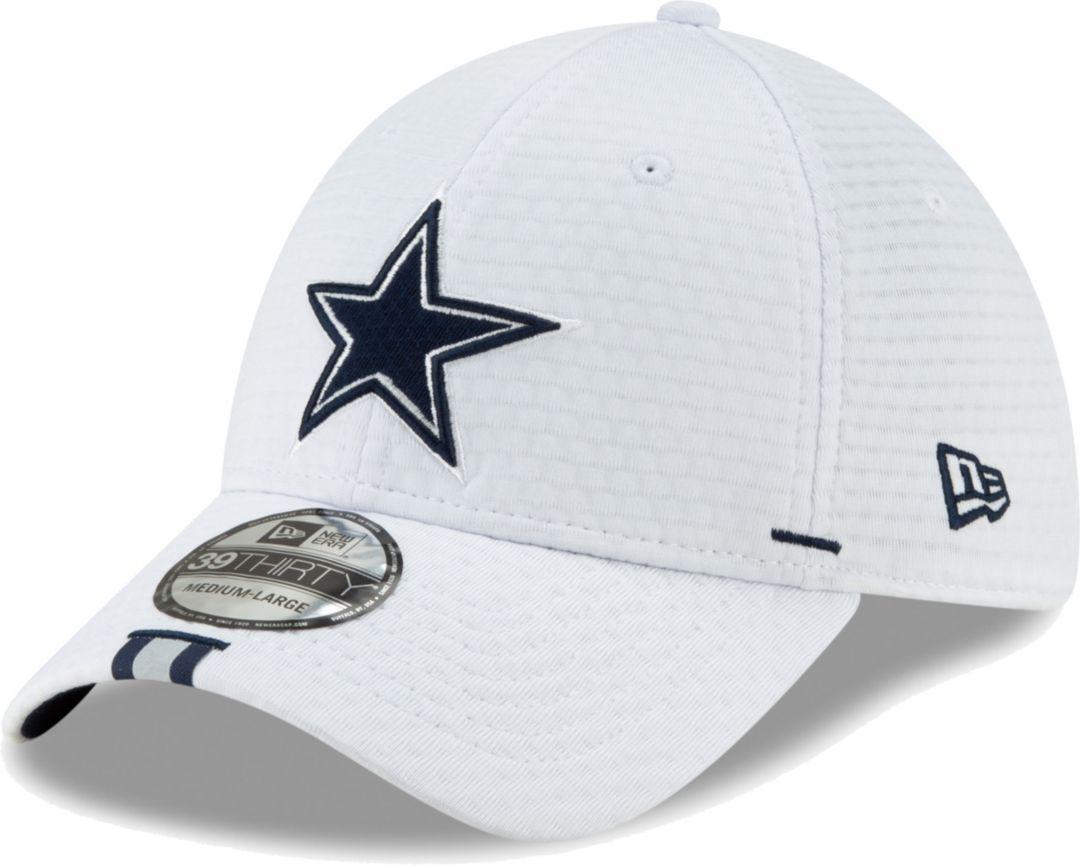 best authentic b5fec 056d3 New Era Men s Dallas Cowboys Sideline Training Camp 39Thirty Stretch Fit  White Hat 1