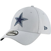 New Era Men's Dallas Cowboys Sideline Training Camp 39Thirty Grey Stretch Fit Hat