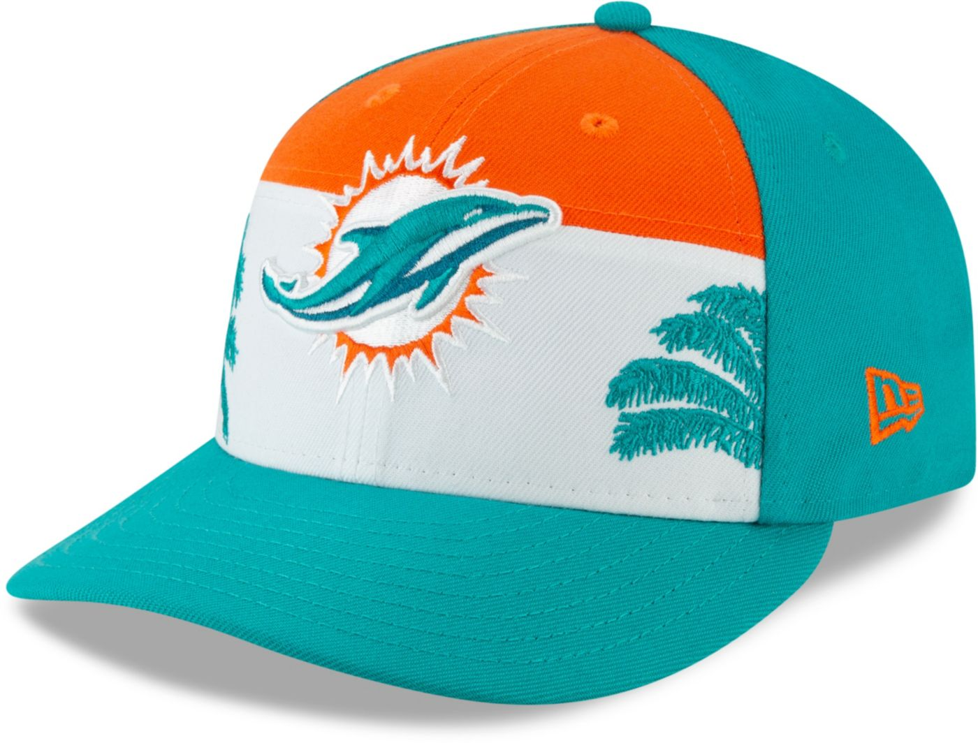 New Era Men's Miami Dolphins 2019 NFL Draft 59Fifty Fitted Aqua Hat