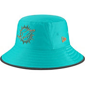 New Era Men's Miami Dolphins Sideline Training Camp Aqua Bucket Hat