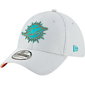 New Era Men's Miami Dolphins Sideline Training Camp 39Thirty Grey Stretch Fit Hat
