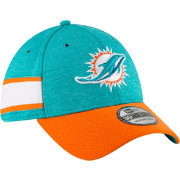 New Era Men's Miami Dolphins Sideline Home 39Thirty Aqua Stretch Fit Hat