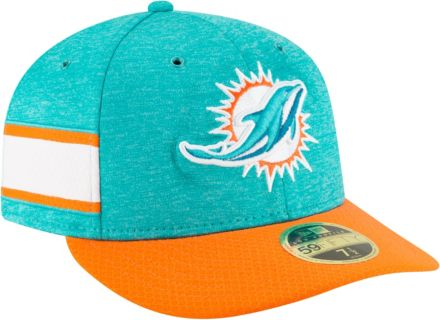 New Era Men  39 s Miami Dolphins Sideline Home 59Fifty Aqua Fitted Hat 677f1ca85