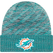 New Era Men's Miami Dolphins Sideline Cold Weather TD Aqua Knit