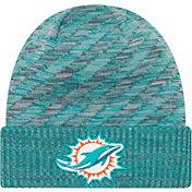 New Era Men's Miami Dolphins Sideline Cold Weather TD Aqua Knit
