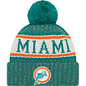 New Era Men's Miami Dolphins Sideline Cold Weather Aqua Sport Knit