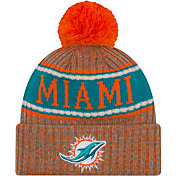 New Era Men's Miami Dolphins Sideline Cold Weather Reverse Orange Sport Knit