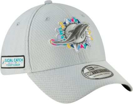 b87d9f4917099c ... sale new era mens crucial catch miami dolphins sideline 39thirty white  stretch fit hat b7d2a 358fa